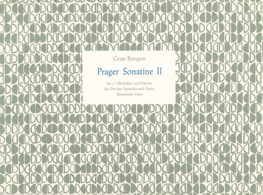 Bresgen: Prague Sonatina No. 2 for Descant Recorder and Piano