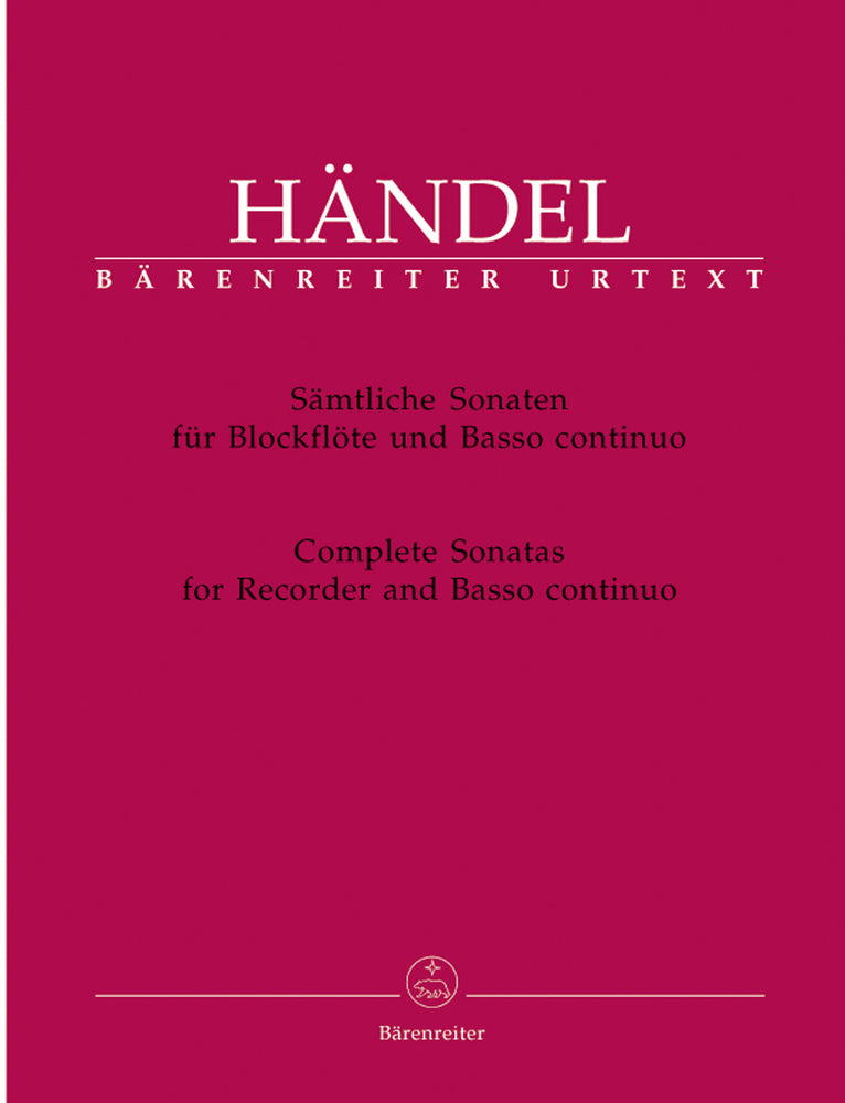 Handel: Complete Sonatas for Recorder and Basso Continuo