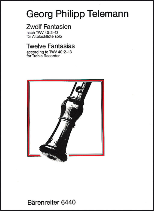 Telemann: 12 Fantasias for Treble Recorder