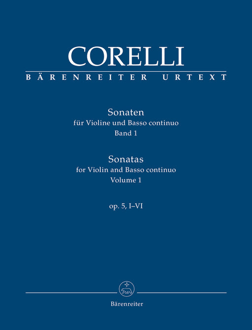 Corelli: Sonatas for Violin and Basso Continuo Op. 5 Vol. 1