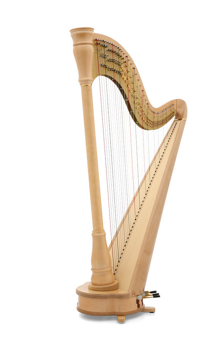 Camac Athena Straight TD 47 String Pedal Harp in Maple