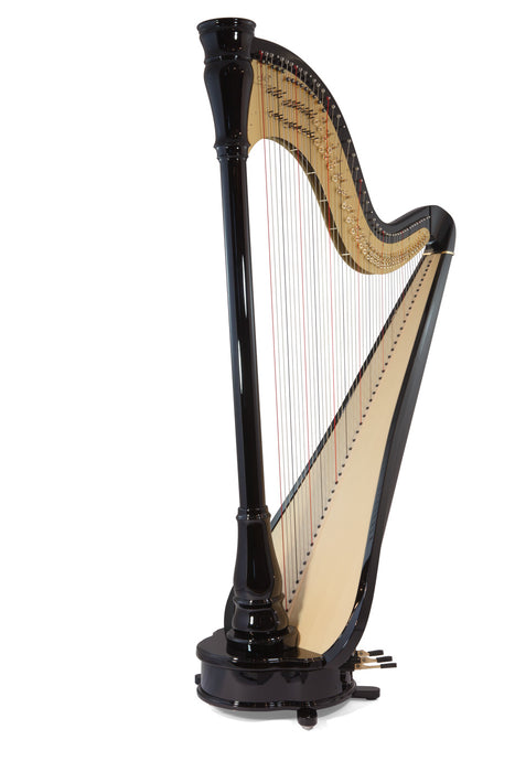 Camac Athena Extended TL 47 String Pedal Harp in Ebony