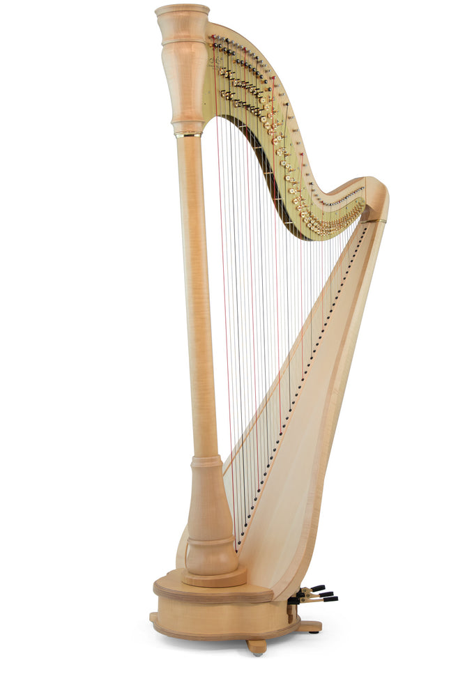 Camac Athena Extended TL 47 String Pedal Harp in Maple