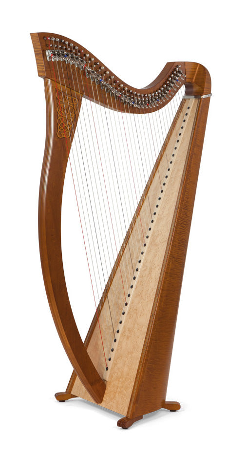 Camac Aziliz 34 String Harp in Cherrywood