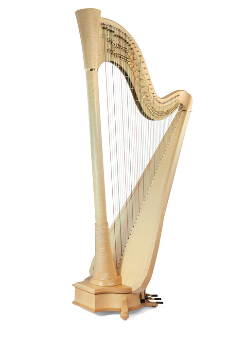 Camac Clio Extended TL 44 String Pedal Harp in Maple