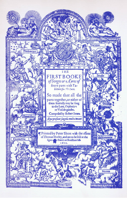 Jones: The First Booke of Songes or Ayres (1600)
