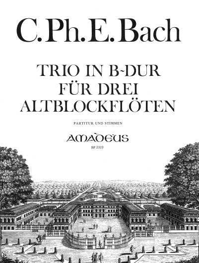 Bach, C.P.E: Trio in Bb Major for Recorder Trio