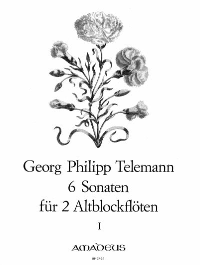 Telemann: 6 Sonatas for 2 Treble Recorders, Vol.1