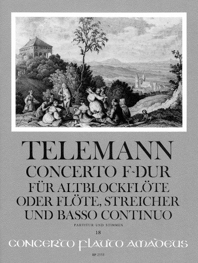 Telemann: Concerto in F Major for Treble Recorder, Strings and Basso Continuo