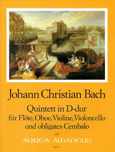 J. Ch. Bach: Quintet in D Major for Flute, Oboe, Violin, Violoncello and Harpsichord