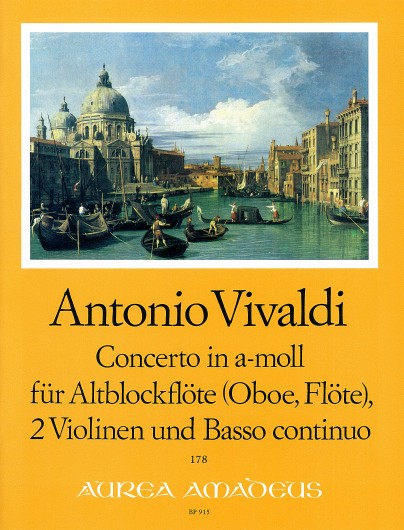 Vivaldi: Concerto in A Minor for Treble Recorder, 2 Violins and Basso Continuo