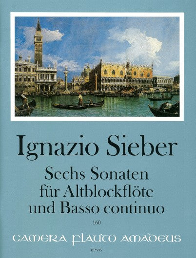 Sieber: 6 Sonatas for Treble Recorder and Basso Continuo