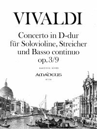 Vivaldi: Concerto in D Major for Violin, Strings and Continuo, Op 3/9