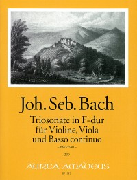Bach, J.S.: Trio Sonata in F Major for Violin, Viola and Continuo