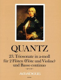 Quantz: Trio Sonata in A Minor for 2 Flutes and Basso Continuo