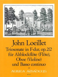 Loeillet: Trio Sonata in F Major Op. 2/2 for Treble Recorder, Oboe and Basso Continuo