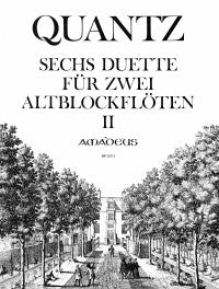 Quantz: 6 Duets for 2 Alto Recorders, Vol. 2