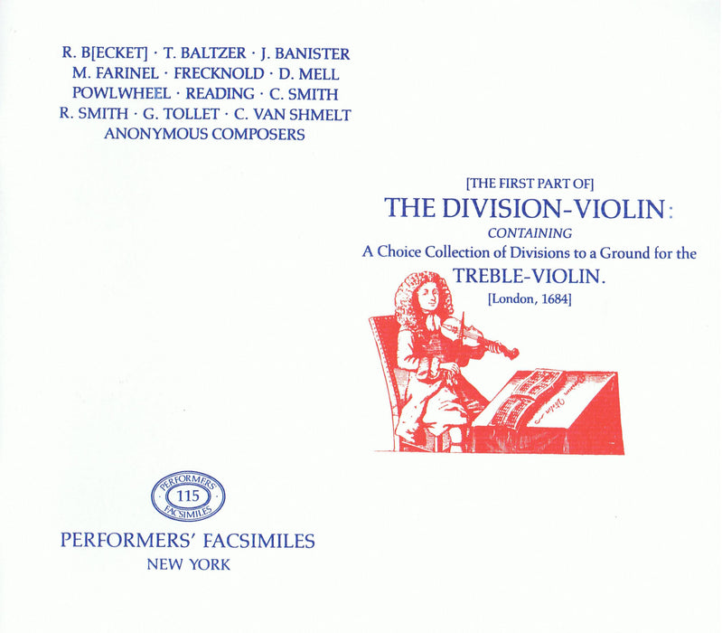 Various: The First Part of the Division Violin