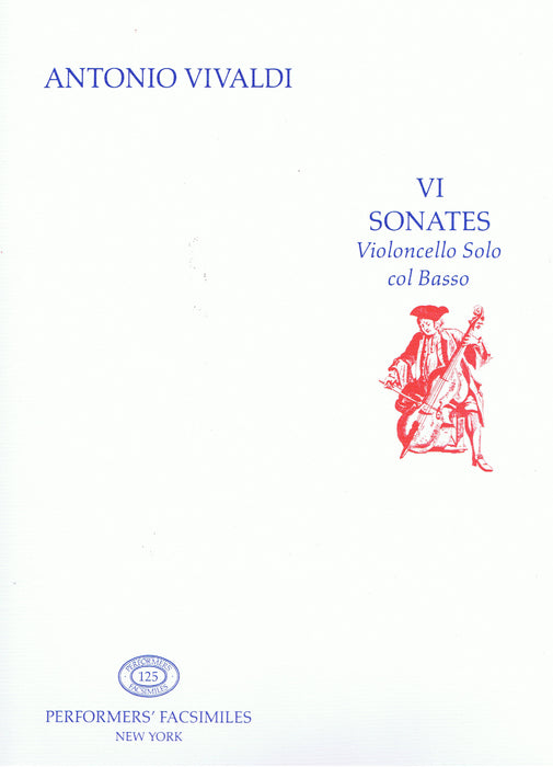 Vivaldi: 6 Sonatas for Violoncello and Basso Continuo