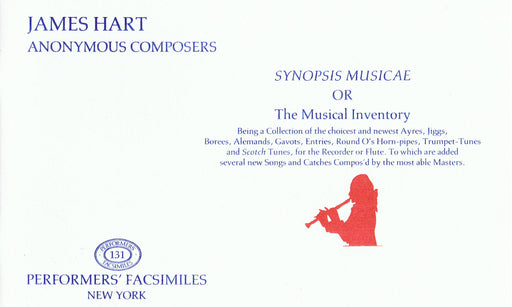 Hart/Anonymous: Synopsis Musicae or the Musical Inventory