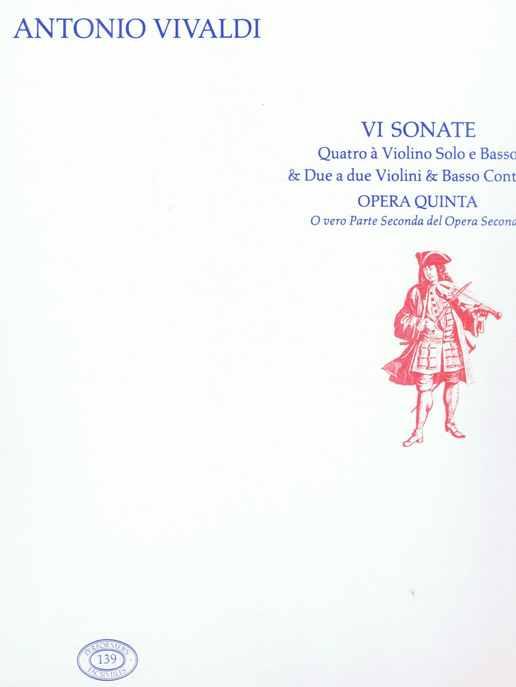 Vivaldi: Six Sonatas for 1 or 2 Violins and Basso Continuo, Op. 5