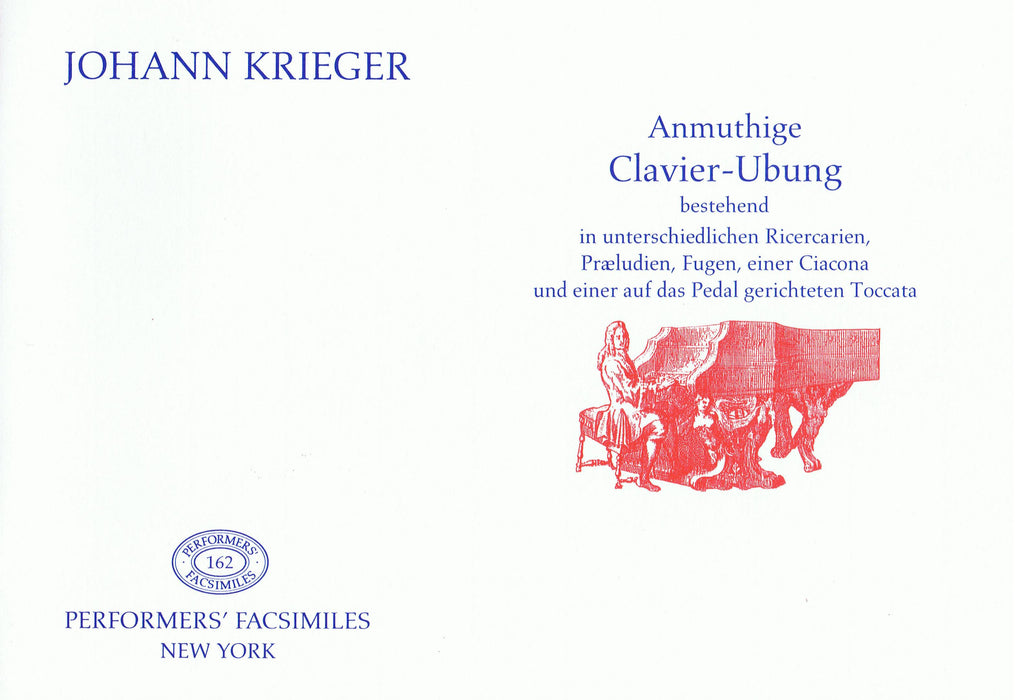 Krieger: Anmuthige Clavier-Ubung - Pieces for Harpsichord