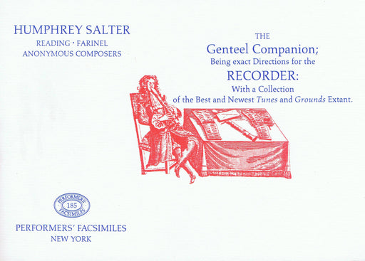 Salter: The Genteel Companion - Directions for the Recorder