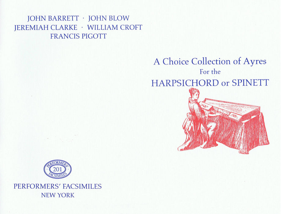 Various: A Choice Collection of Ayres for the Harpsichord or Spinett
