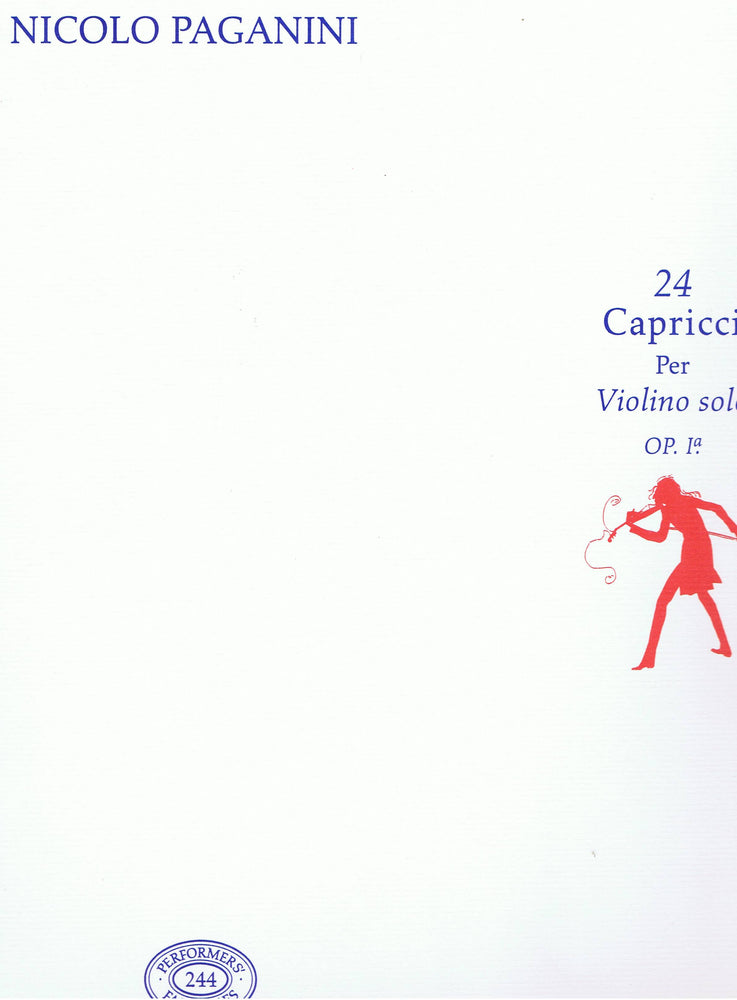 Paganini: 24 Caprices for Violin Solo, Op. 1a