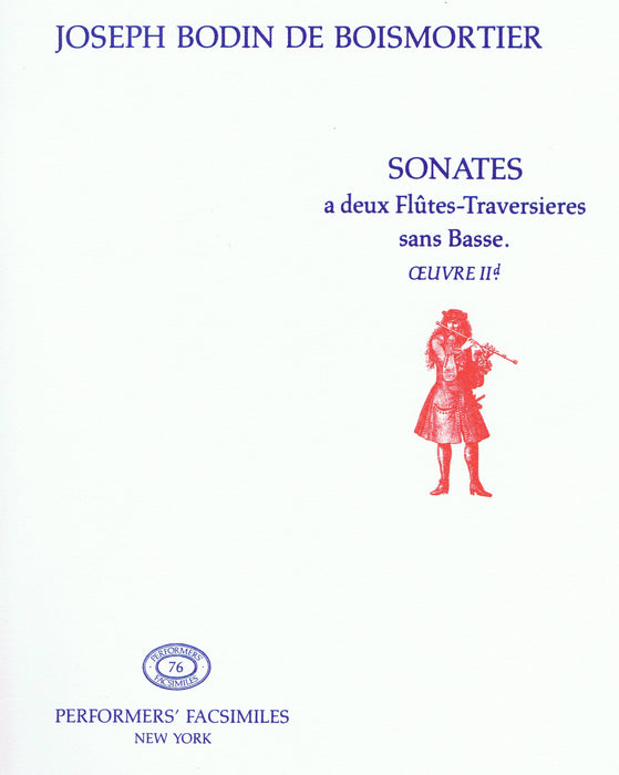Boismortier: Sonatas for 2 Flutes without Bass, Op. 2d