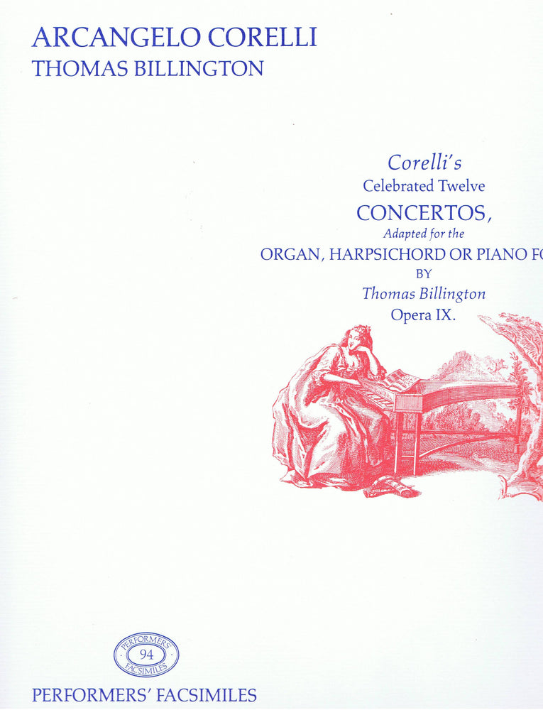 Corelli/ Billington: 12 Concertos adapted for Keyboard Instruments