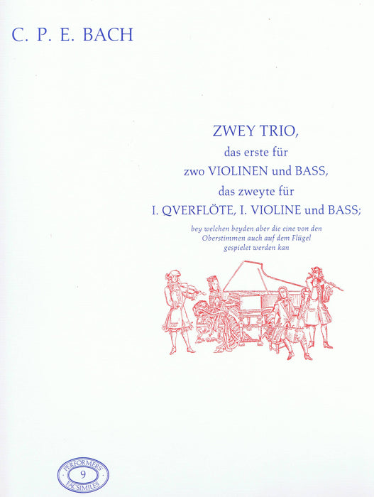 C. P. E. Bach: Two Trio Sonatas