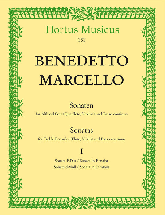 Marcello: Sonatas for Treble Recorder and Basso Continuo, Vol. 1