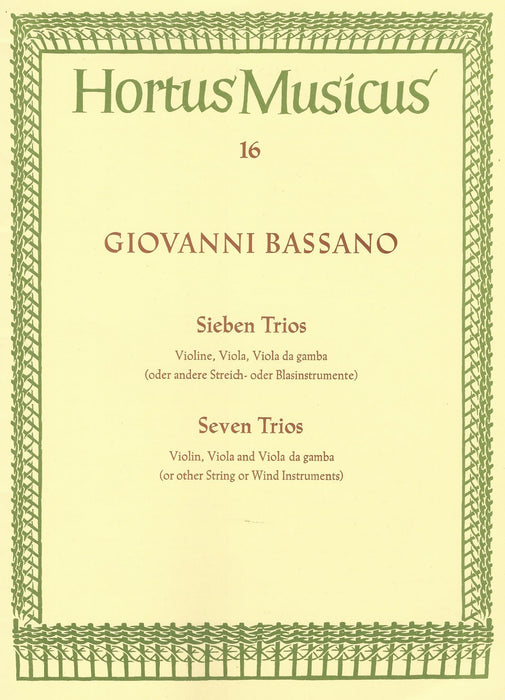 Bassano: 7 Trios for Violin, Viola and Viola da Gamba