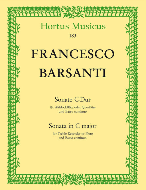 Barsanti: Sonata in C Major for Treble Recorder and Basso Continuo