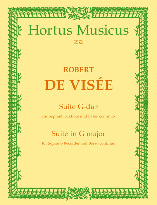 De Visee: Suite in G Major for Descant Recorder and Basso Continuo