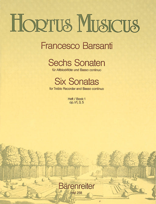 Barsanti: 6 Sonatas for Treble Recorder and Basso Continuo, Book 1