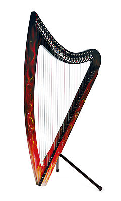 Camac DHC 32 Blue Light Electro Harp in True Fire Red