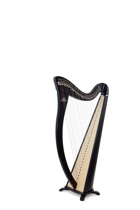 Camac Hermine 34 String Harp in Ebony