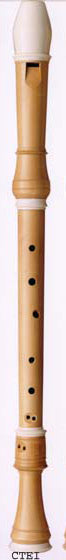 Coolsma Tenor Recorder in European Boxwood with Decoration