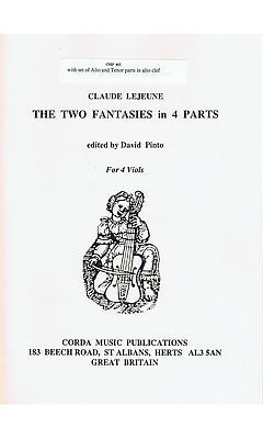 Lejeune: Two Fantasies in Four Parts for Viol Consort