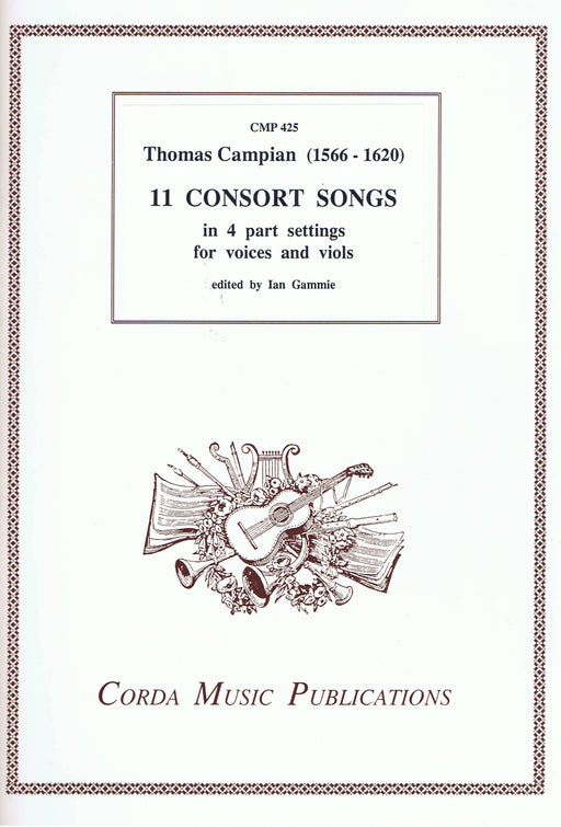 Campian: 11 Consort Songs in 4 Parts for Voices or Viols