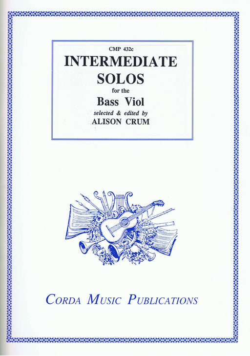 Crum (ed.): Intermediate Solos for the Bass Viol