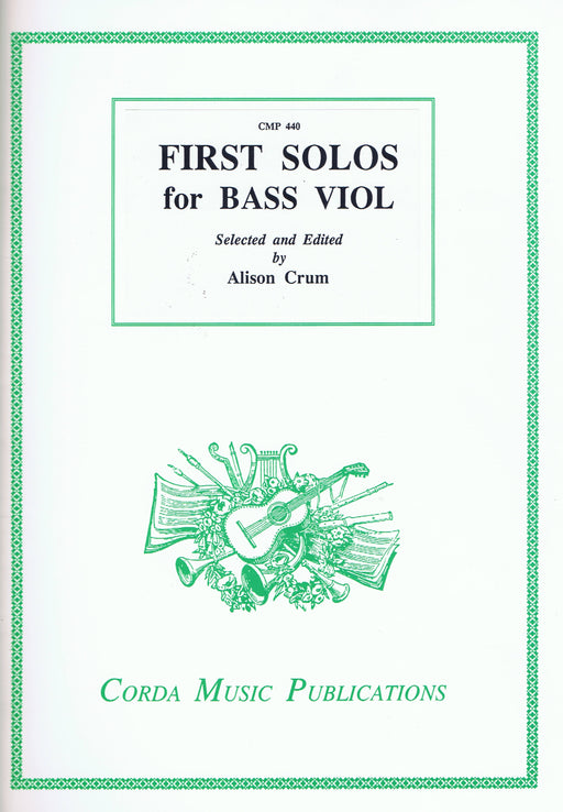 Crum (ed.): First Solos for Bass Viol