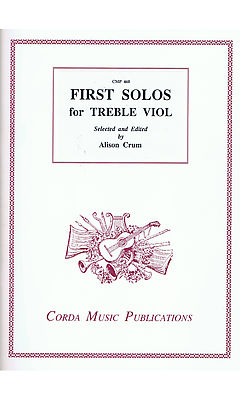 Crum (ed.): First Solos for Treble Viol