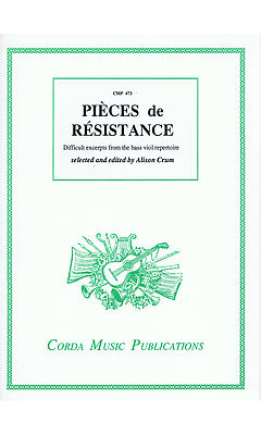 Crum (ed.): Pièces de Résistance - Difficult Excerpts for the Bass Viol