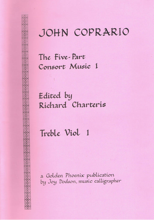 Coprario: Five-Part Consort Music - Book 1