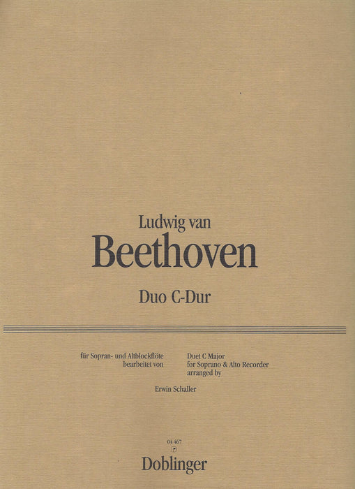Beethoven: Duo in C Major for Descant and Treble Recorder