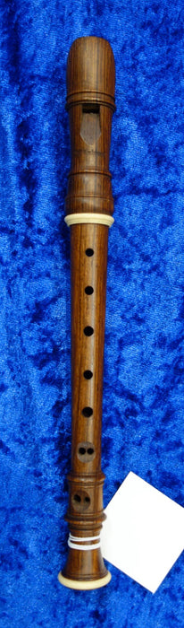 3972S Mollenhauer Sopranino Recorder in Palisander with decorative rings and in very good condition - no case