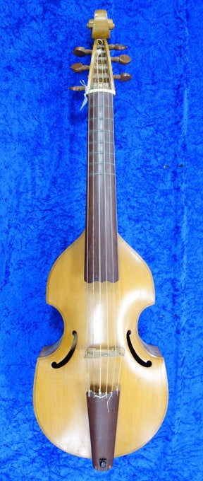 3995S Tenor Viol with bow and canvas bag - maker unknown - in fair condition